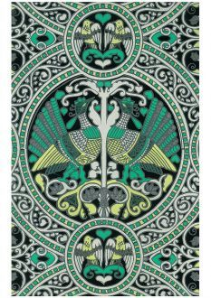 Arabian Birds by Florence Broadhurst wall covering by Signature Prints #lifeinstyle #greenwithenvy