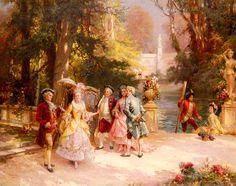Cesare Auguste Detti  (Italian, 1847-1914) - The Castle Garden