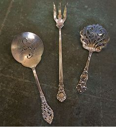 Georgian By Towle Sterling Silver Vegetable Serving Spoon Goldwashed Pointed Comfortable And Easy To Wear Other Antique Furniture Furniture