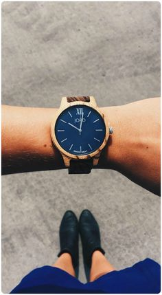 Feeling blue in the best way. | Lovely photo courtesy of @kadydane of IG | Find her watch, the Frankie35 Navy at woodwatches.com - free shipping worldwide!