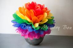 Rainbow Handmade Tissue Paper Pom Poms / paper flower /Wedding Poms / Nursery / Birthday party/ Christmas Party