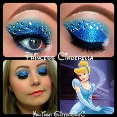 Cinderella eye makeup Made by:glittergirlc