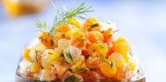 Tartare de saumon aux agrumes Ceviche, Tapas, Serving Bowls, Entrees, Mango, Recipies, Cooking, Ethnic Recipes, Kitchen