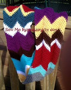 Crochet Chevron Multi Infinity Scarf/Cowl by SewMeInspirationbyJo, $40.00