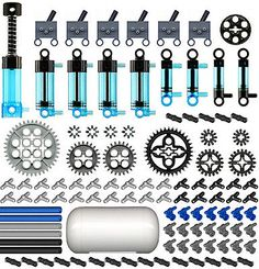 Lego Pneumatic KIT 6 cylinder,pump,tube,hose,switch,valve,piston,tubing,ev3