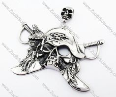Big Stainless Steel Pirate Pendant - JP170163 Item No. : JP170163 Market Price : US$ 106.00 Sales Price : US$ 10.60 Category : Big Pendants