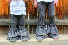 Diy knit pants!! RUFFLES!!