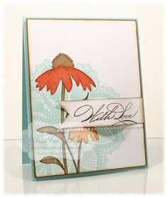 by Renee Van Stralen...Stamping for Sanity.  Stampin' Up!  SU **** Hello Doily, active & Inspired by Nature, retired