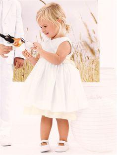 Baby-Wickelkleid in Weiß für festliche Anlässe  #baby #taufe #baptism #dress #kleid #weiß
