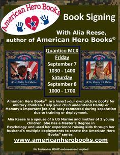 Book Signing, September 7-8, MCX Quantico, VA