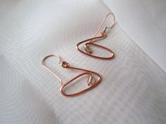 Copper/Crystal earrings