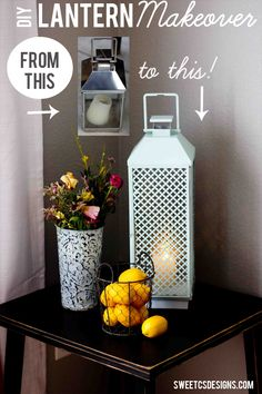 Turn a metal lantern into a chic accessory for your home in minutes with a radiator cover, on-trend paint and a little TLC! Love this- just like the ones you see at Target but you could make them from garage sale l