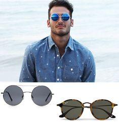 b41eadfa1 redondo Oculos Escuros Masculinos, Vestuário Masculino, Oculos De Sol,  Guarda Roupa, Peça
