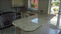 "New Venetian Gold Granite - Banbury ""A short note to say how pleased my wife and I are with the granite installation that your team have completed in our new kitchen. The result is fantastic. Could not have asked for a better service and your team have all been so helpful throughout. Will recommend your company to friends and family without hesitation."" GraniteWorktops"