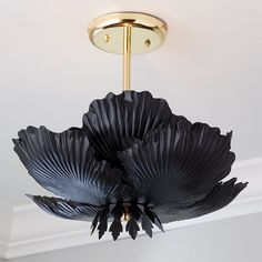 Lotus Flower Ceiling Light - Large - Shades of Light Types Of Lighting, Unique Lighting, Home Lighting, Lighting Ideas, Flower Ceiling, Ceiling Fan, Ceiling Lights, Spooky House, Goth Home Decor