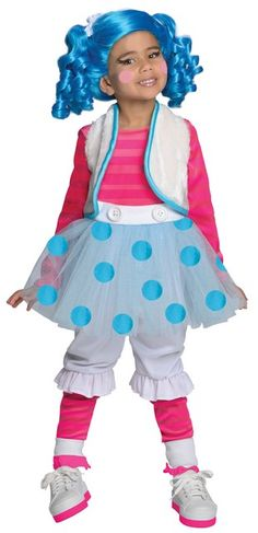 "Deluxe Mittens Fluff ""N"" Stuff New for 2013 Kids Halloween Costume Includes Dress, Leggings, Wig. $31.08"