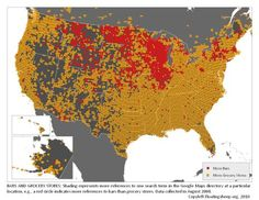 Check out this map of bars/grocery stores. Whoa, WI & MN!