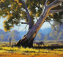 Shady Tree by Graham Gercken Watercolor Landscape, Landscape Art, Landscape Paintings, Watercolor Paintings, Painting Trees, Australian Painting, Australian Artists, Shady Tree, Traditional Landscape