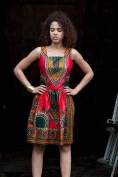 African dress from Gambia Addis Abeba Red by KOKOworld on Etsy