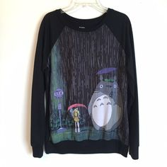 Totoro Pullover Cute pullover sweater with My Neighbor Totoro. NWOT. Let me know if you have any questions!  Hot Topic Sweaters Crew & Scoop Necks