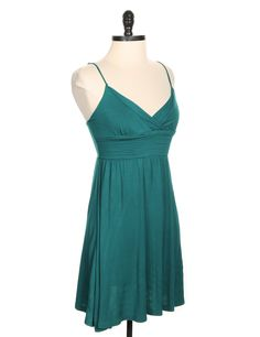 Pins and Needles by Urban Outfitters Green Solid Tank Dress - Size XS