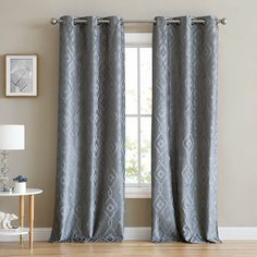 paires de panneaux à oeillets isolantes géométriques Arabella Decoration, Ikea, Curtains, Home Decor, Curtain Headboards, Natural Light, Pattern, Decor, Blinds