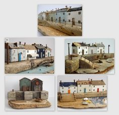 """There's a special charm about Kirsty Elson's driftwood houses. Kirsty Elson, Putz Houses, Wooden Houses, Arts And Crafts, Diy Crafts, Driftwood Crafts, Naive Art, Garden Crafts, Wood Blocks"