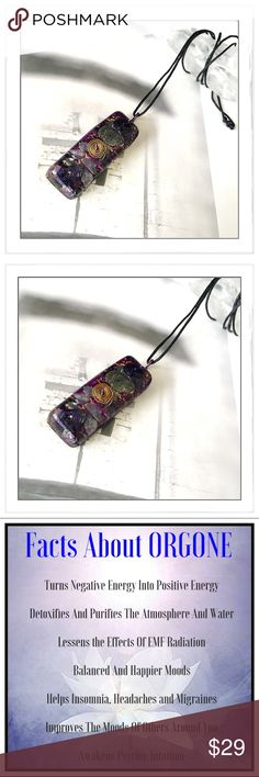 ✨The Gypsy Orgone/Organite EMF Protection Pendant✨ ✨Orgone Technology Works In A Way That It Converts Negative Energy To Positive Making The Pendant Extremely Powerful And Protective✨Everyone Should Own And Wear An Orgone Pendant✨People Who Wear Orgone Feel More Energized, More Focused, And Sleep Much Better✨I Have Found That Very Few Negative People Come Near Me When I Am Wearing Mine✨They Create A Field Of High Frequency Energy Which Interacts With Your Own Energy Field; Raising It And…