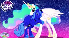 My Little Pony Coloring Pages Nightmare Moon : My little pony transforms princess celestia baby alicorn colors
