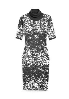 Found: the perfect desk-to-drinks dress. The neckline says office hours; the bold pattern says happy hour.