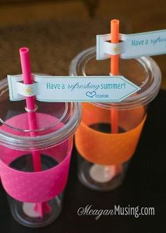 Have a Refreshing Summer - cute gift card holder idea for teacher's end-of-the-year gift by greta