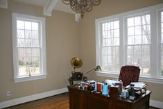 Sherwin Williams Macadamia color (SW 6142). Nolan Painting painted this study in Newtown Square, PA