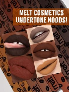 Melt Cosmetics Undertone Noods is a liquid lipstick inspired by the undertones found in makeup foundations! Giving your lips a finish like they have never Iman Cosmetics, Melt Cosmetics, Makeup Prices, National Lipstick Day, The Undertones, Bold Lips, Dark Lips, No Foundation Makeup, Beauty Hacks