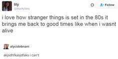 Missed it by a few years but my older siblings know all about it so I was a bit infected by the :) Stranger Things Have Happened, Stranger Things Funny, Should I Stay, Stranger Danger, Just For Laughs, Best Shows Ever, Tumblr Funny, Film, Favorite Tv Shows