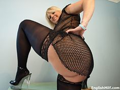 big ass british milf wife in thong stockings and garters