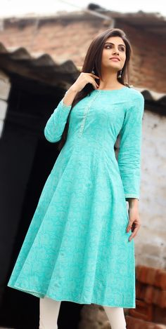 Gorgeous #blue anarkali to brighten up the day.
