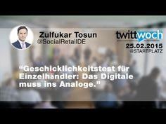 Twittwoch Köln zum Thema Lokaler Einzelhandel. 1. Vortrag: Das Digitale muss ins Analoge - Zulfukar Tosun - 25.2.2015 - #twcgn - YouTube Für ein echtes Twittwoch Gefühl könnt ihr parallel zu den Videos hier stöbern https://storify.com/kehrseite/twittwoch-koln-22-lokaler-einzelhandel