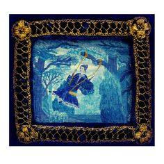 Victorian Lady in Blue by BearkatStudio on Etsy, $350.00