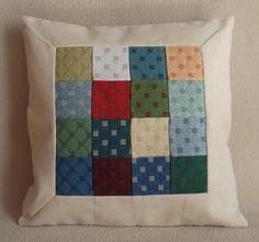 Cuscino patchwork cm 45x45 PEZZO UNICO alta qualità di RITALYstyle