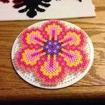 Flower -- perler beads