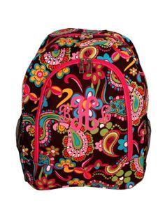 $13.75 Whimsical Wonderland Large Backpack with Hot Pink Trim
