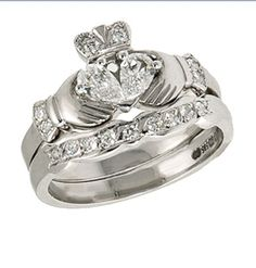 Irish Claddagh Wedding Ring is EXACTLY what I would want. Just less diamonds and gold. That is all.