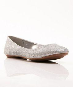 Look at this #zulilyfind! Silver Glitter Sienna Ballet Flat #zulilyfinds