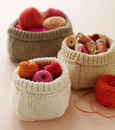 knitted bags/baskets