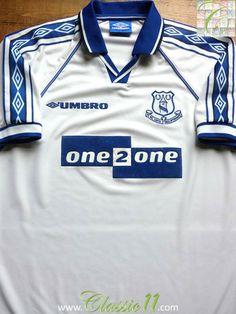 Relive Everton s 1998 1999 season with this vintage Umbro away football  shirt. Vintage Football 73e359cba
