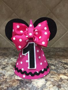 Minnie Mouse Birthday Hat Pink First Outfit 1st