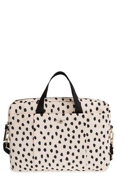 Free shipping and returns on kate spade new york 'renny drive' laptop bag (15 inch) at Nordstrom.com. Store your laptop and tech essentials in style with this slim, nylon laptop bag covered in playful dots and trimmed with crosshatched leather. Carry by the top handles, or use the optional crossbody strap for commuter-ready ease.