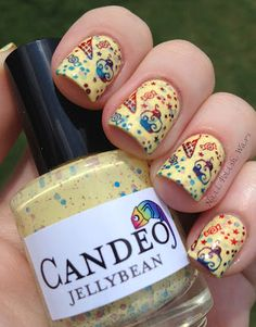 "Candeo Colors ""jellybean"" + stamping.  I WANT JELLYBEAN."