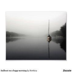 Sailboat on a foggy morning