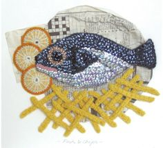 Crocheted Fish & Chips by Kate Jenkins #crochet #inspiration